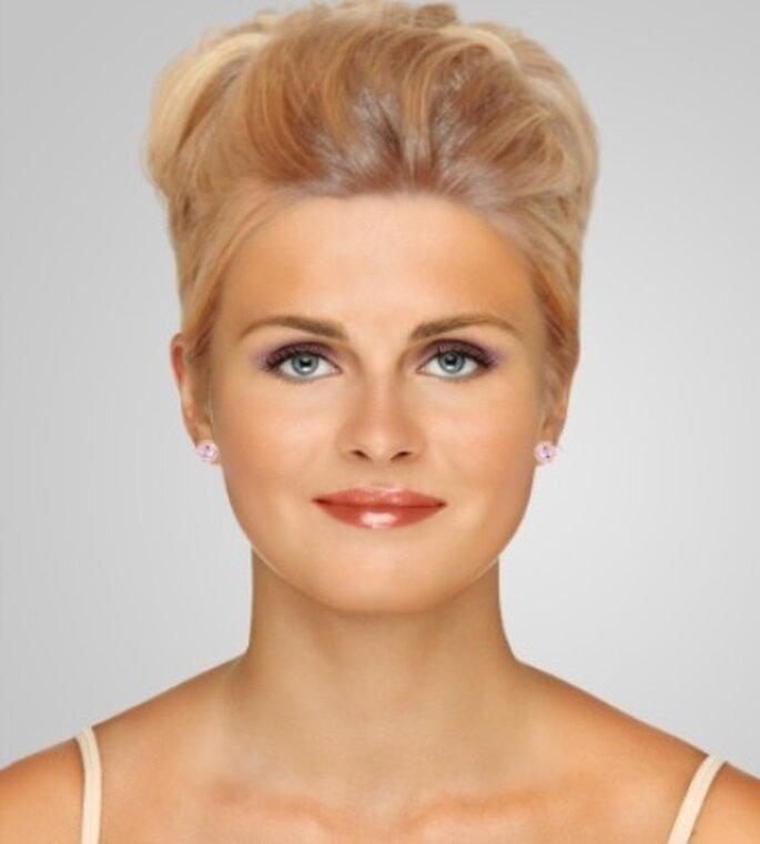 Maquillage CHANEL pour mariée blonde - Dailymakeover.com - Rouge à lèvres Rouge Coco : teinte Téhéran, Ombre à paupières Illusion d'ombre : teinte Illusoire