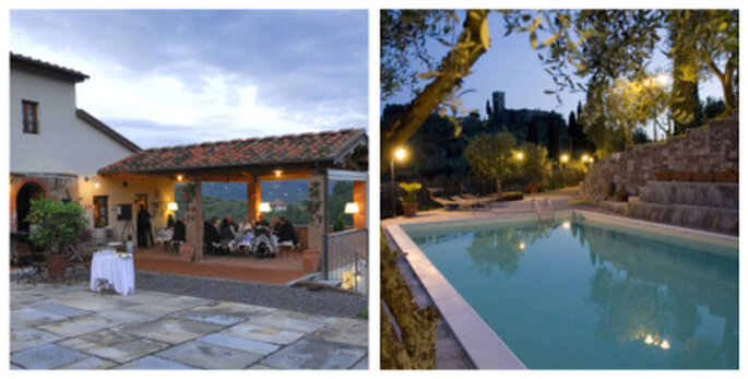 Traumhafte Umgebung für Ihre Hochzeitsfeier in Buggiano in der Toskana.