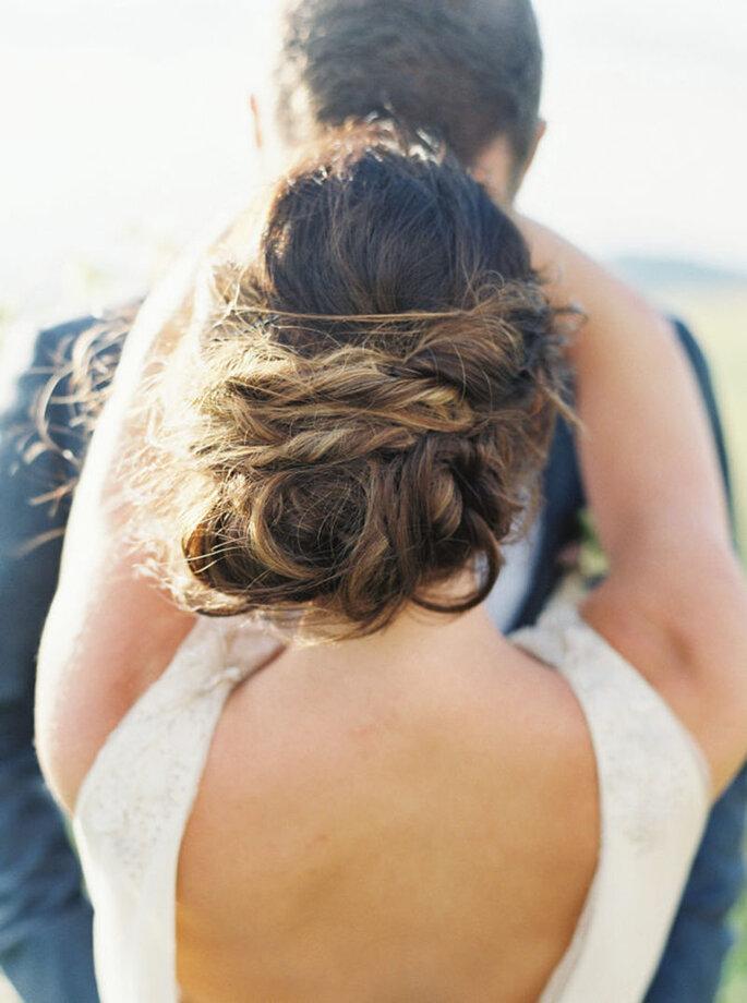 penteado noiva semi preso