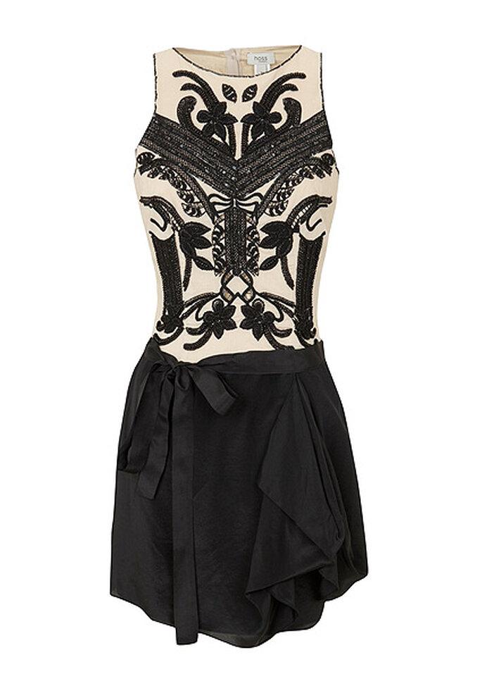 El vestido de Doña Letizia es un modelo de Hoss Intropia en color nude y negro. Foto: Hoss Intropia