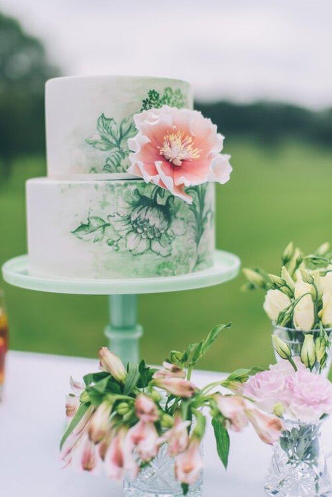 torta nuziale watercolor