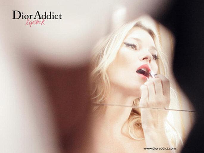 Kate Moss para a campanha Dior Addict - Foto: David Sims