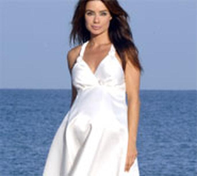 robe de mariée pour femme enceinte en satin