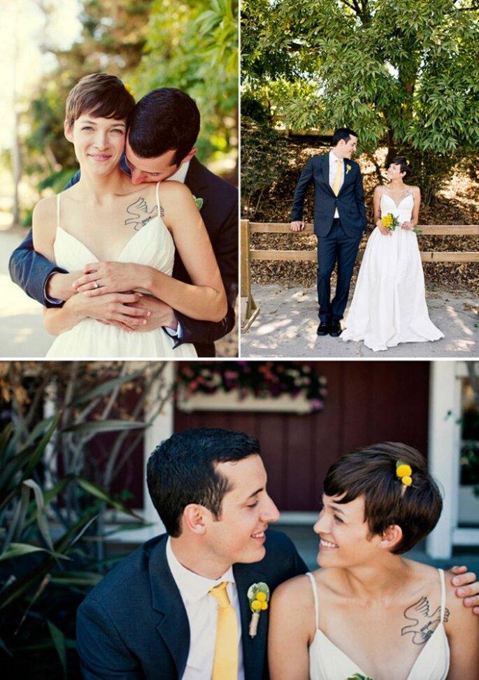 El pixie, un estilo súper chic para el peinado de novia - Focus Photography
