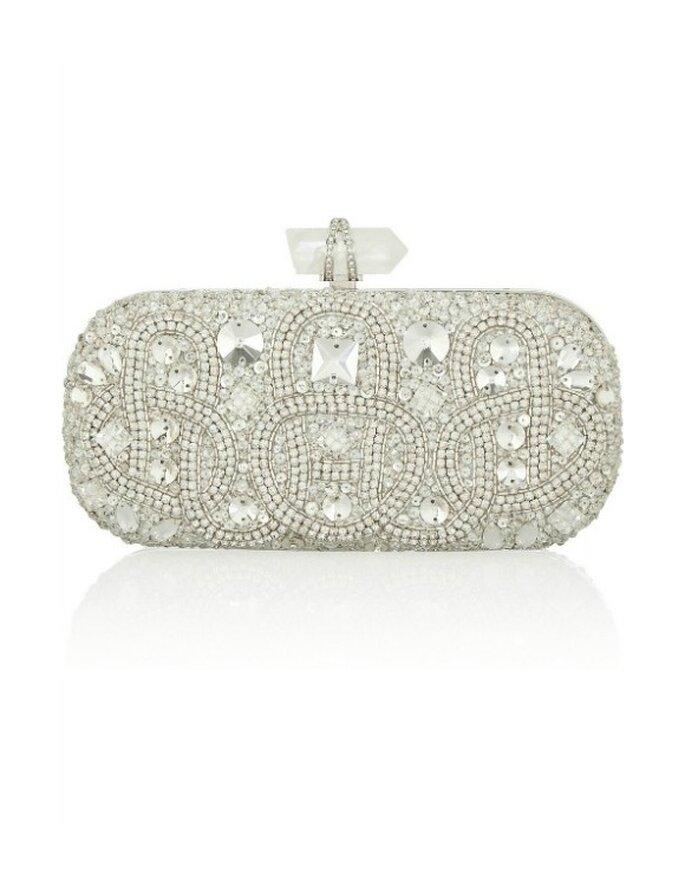 Bolso de mano con cristales, de Marchesa. Foto: net-a-porter