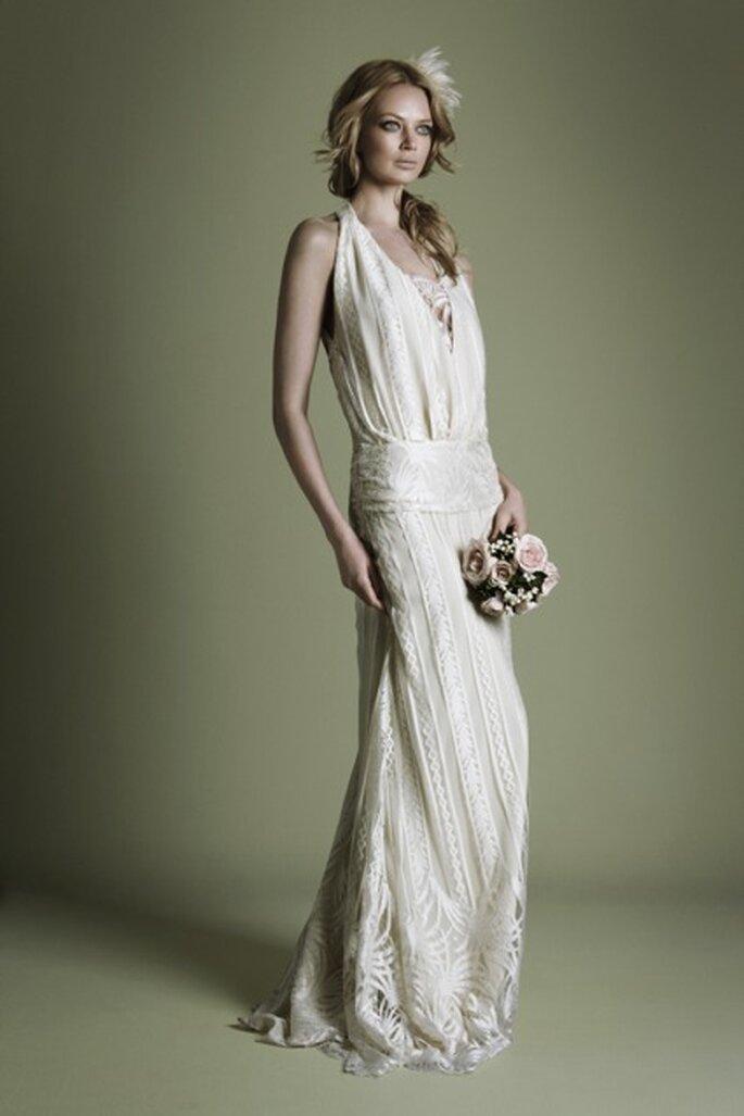 Ganz im 20er-Jahre Stil heiraten – Brautkleider dazu findet frau meist in Second Hand-Läden – Foto: ©Vintage Wedding Dress Company