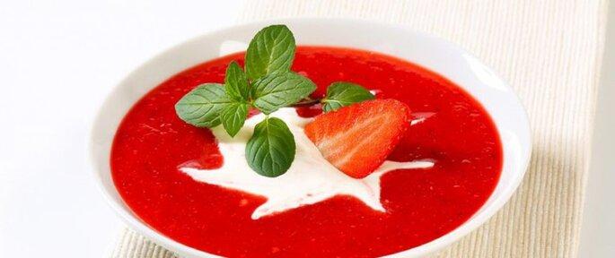 Photo : soupe de fruits. Retrouvez la recette ici.