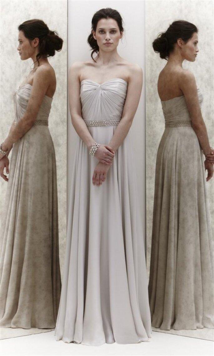 Vestido de novia strapless con cinto de diamantes - Foto Jenny Packham 2013