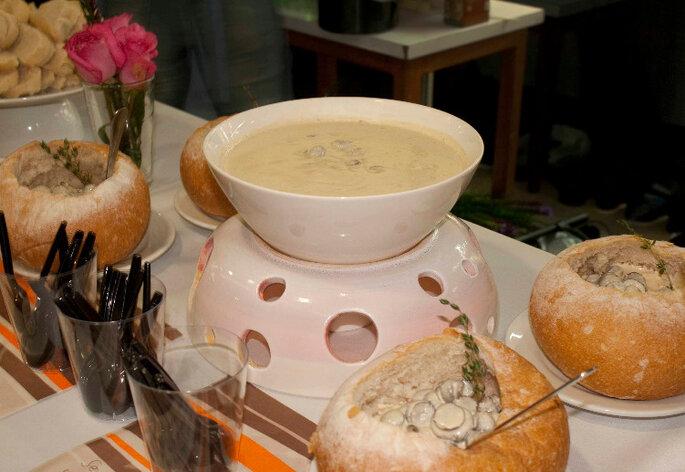"""""""Casual food"""" para bodas más modernas. Foto: Credenza Gastronomía Creativa"""
