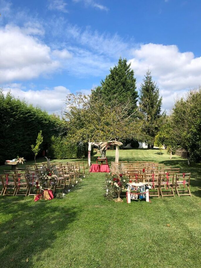 Altar no jardim da Quinta do Amorinho