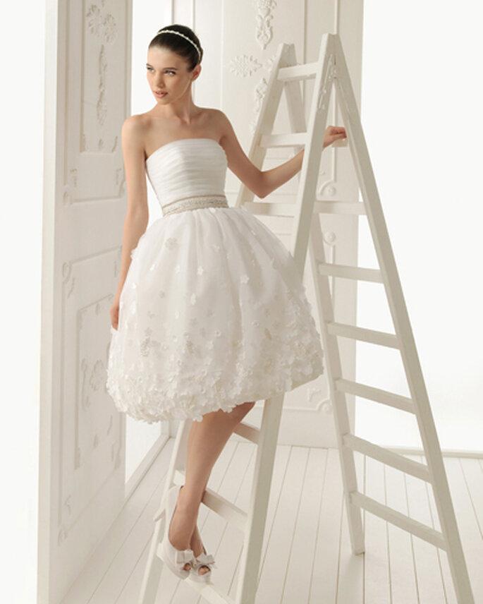 aire barcelona vestido de novia corto