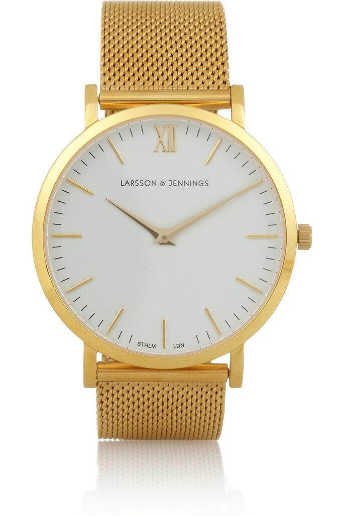 Accesorios en color dorado para una invitada fashionista - Larsson & Jennings en Net a Porter