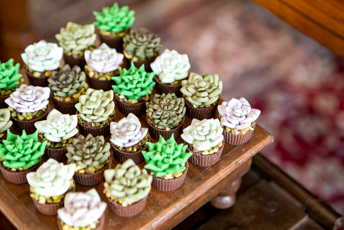 doces que parecem plantas decoração casamento