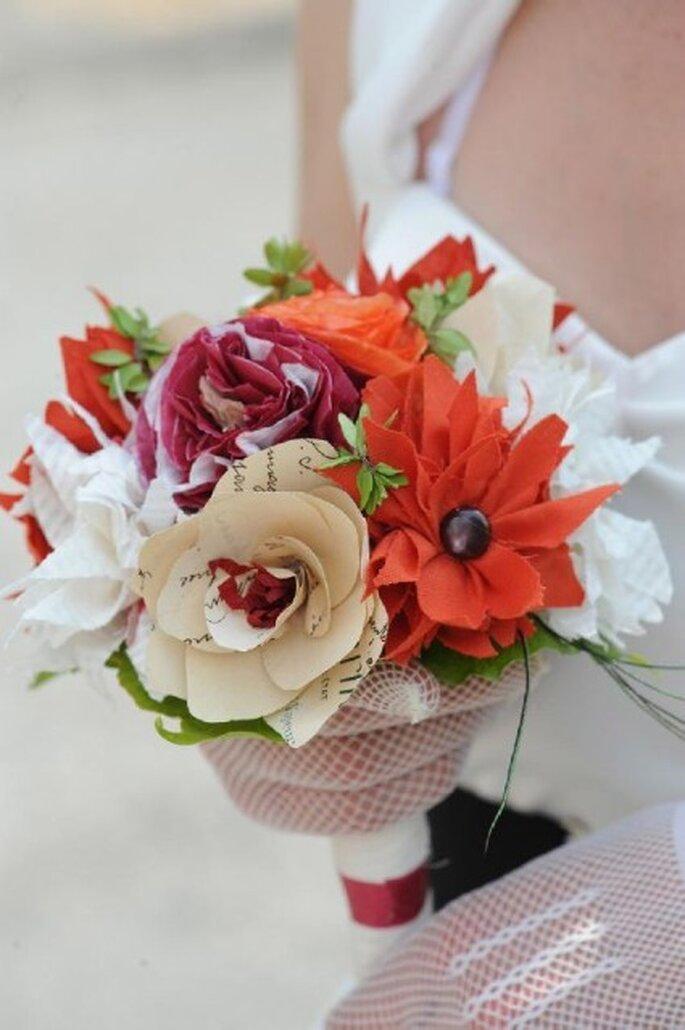 Bouquet de mariée en papier - Machinchoz.canalblog.com