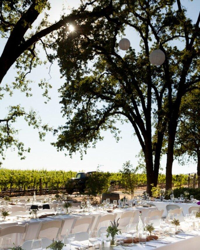 Dekoration für Ihre minimalistische Hochzeitsfeier - Foto Robin Jolin Photography