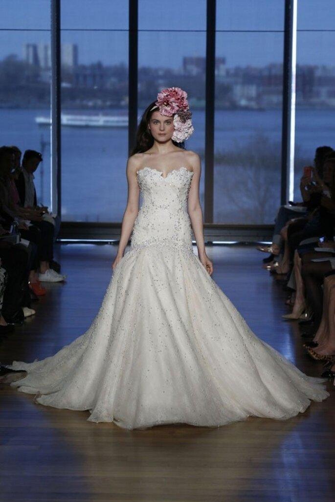 Vestidos de novia 2015 con silueta de cintura baja - Ines Di Santo