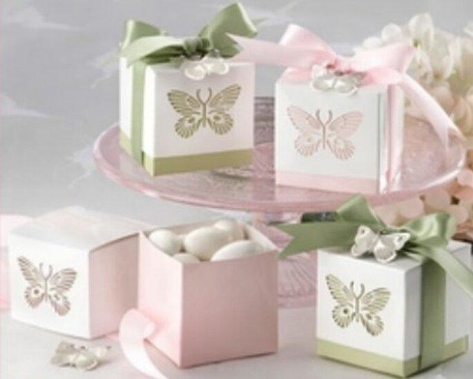 Cajas de almendras para regalar a los invitados