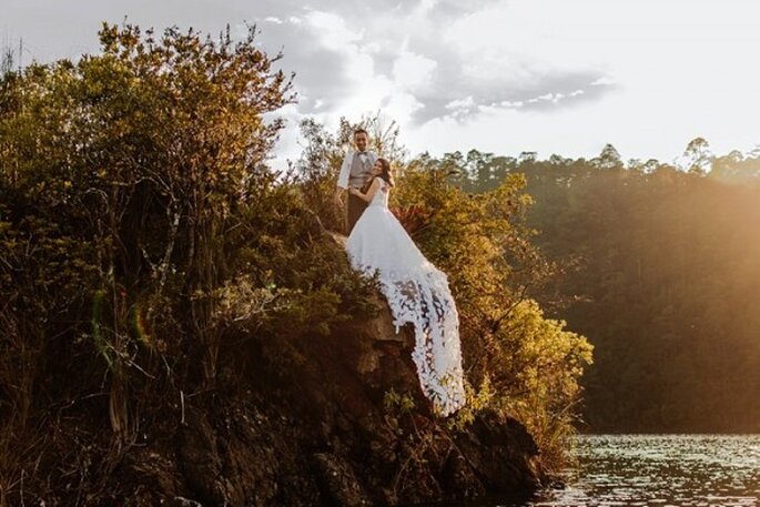 Sesión Trash the Dress en Lago Montebello, Chiapas - Foto Abimelec Olan