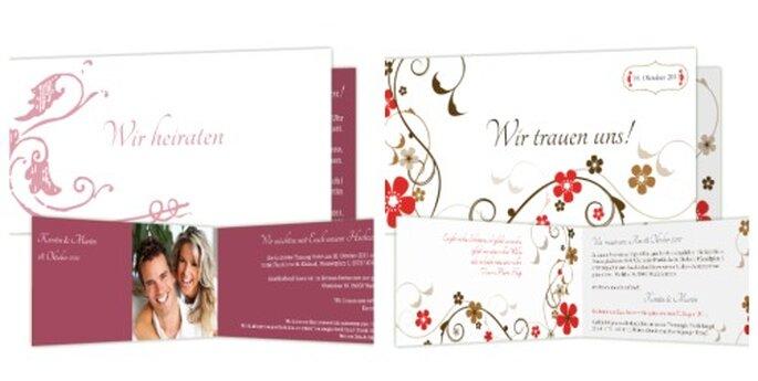 Die Gäste mit individuell gestalteten Hochzeitskarten überraschen - Foto: www.hochzeitskarten-traum.de
