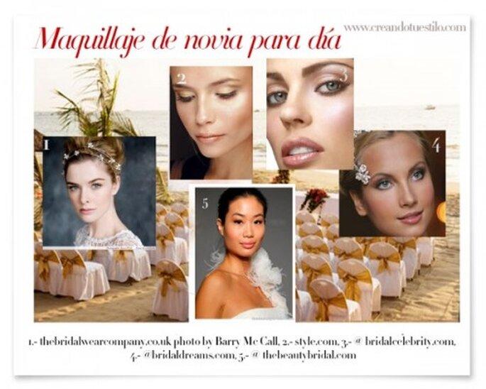 Maquillaje de novia para una boda en el día