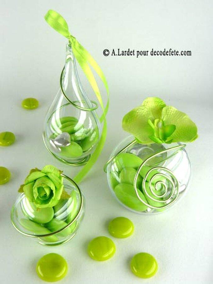 Cubes cartonnées, gouttes, boules transparentes : il y en a pour tous les goûts ! - Photo : decodefete.com