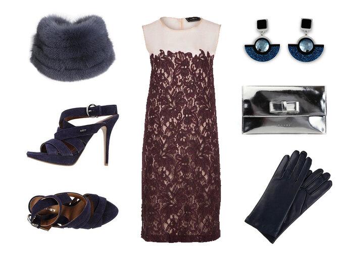Vestito: ByMaleneBirger, sandali: Met, colletto in pelliccia: Schumacher, pochette: Marni, orecchini: Jennifer Loiselle e guanti: Roeckl