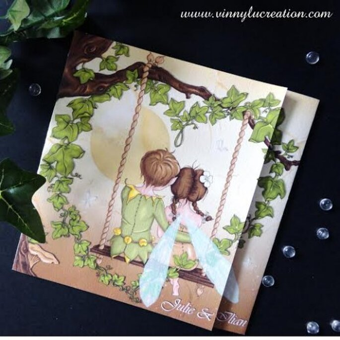 Faire-part de mariage original et sur-mesure - Vinnylu Création