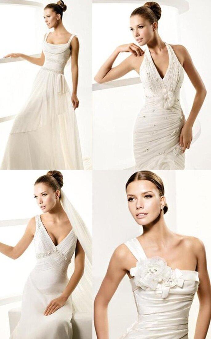 Colecção Vestidos de Noiva La Sposa 2010 - diferentes tipos de decotes