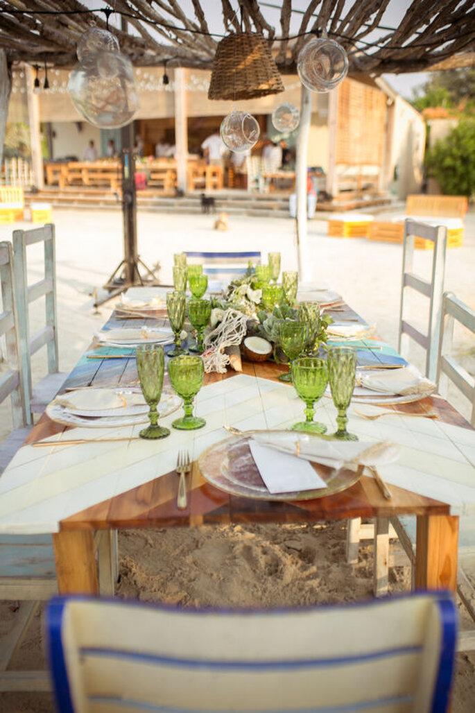 Decoración de boda para la playa