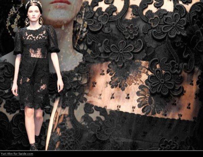 elegante Festmode aus schwarzer Spitze von D&G! - Foto: Dolce Gabbana 2013 - Oficial Fan Page