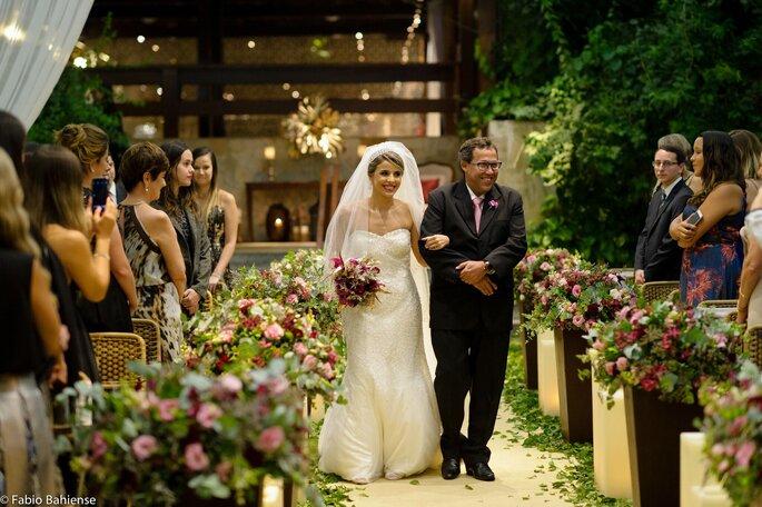Entrada da noiva Amanda