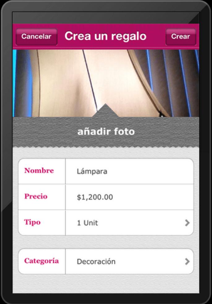 Integra los regalos que quieras tomándoles fotos con tu celular y usando nuestra app en iPhone
