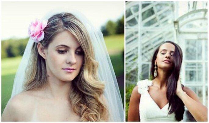 Peinados de medio lado y ondas, ideales para caras cuadradas. Fotos: Bianca Valentim