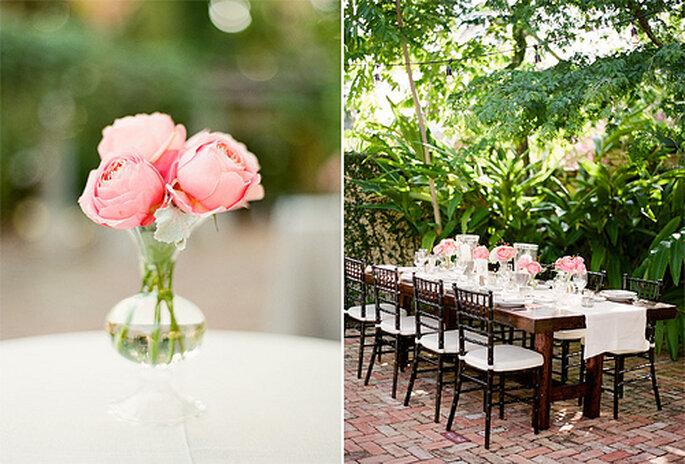 Die perfekte Tischdekoration für eine edle Hochzeitstafel - unsere Tipps