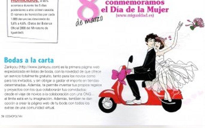 Coupure de l'article Cosmopolitan sur Zankyou