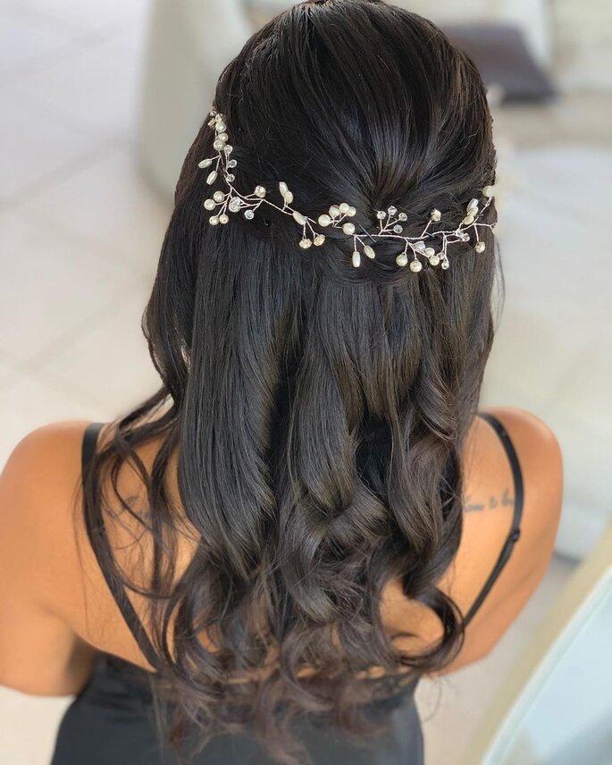 Banging peinados de bodas 2021 Fotos de cortes de pelo Consejos - 50 peinados de novia 2021 con pelo suelto: ¡apuesta por lo ...