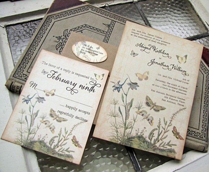 Butterfly invitations -Photo: Sunshine and Ravioli
