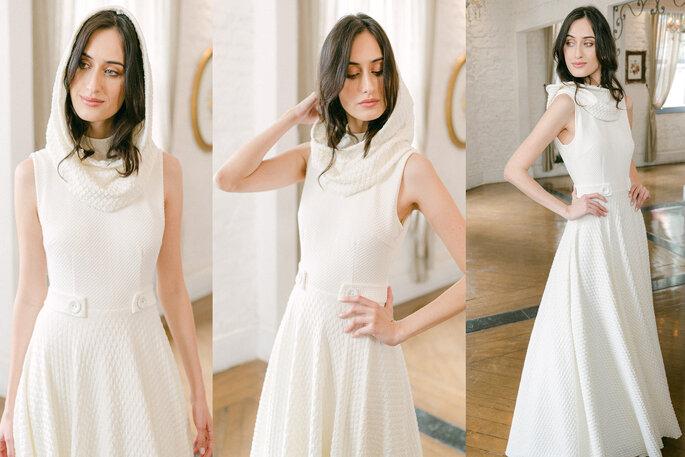vestido de noiva com capuz