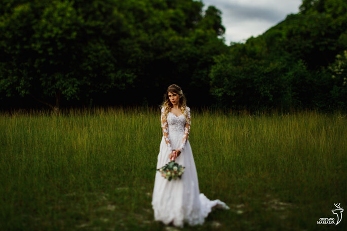 Noiva na grama