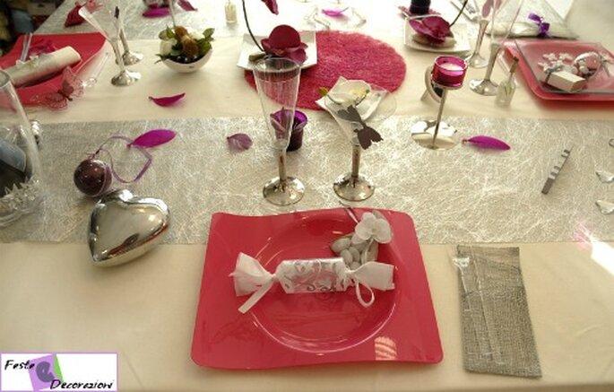 Un tocco di fucsia per la vostra tavola di nozze