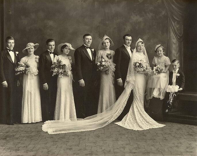 Boda en 1936. Foto: Sam Fam