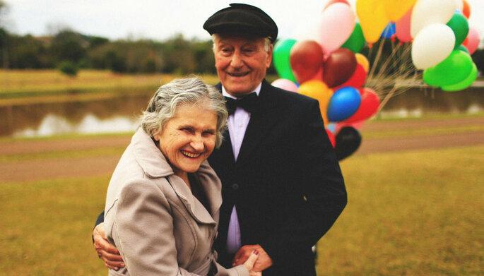ensaio fotográfico up casal velhinhos