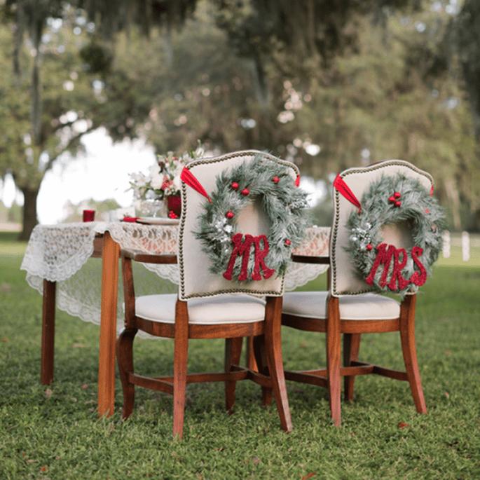 Décoration de Noel pour vos tables de mariage - Photo Theresa NeSmith Photography