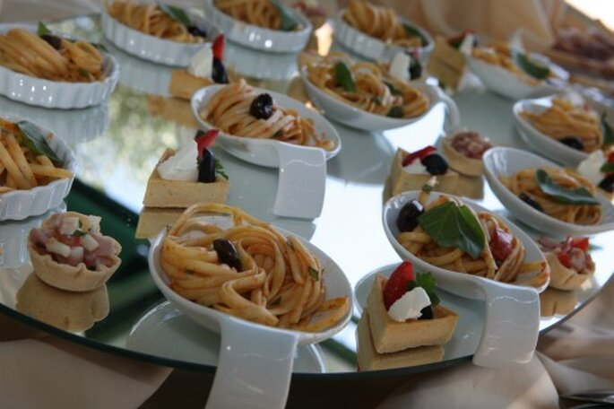 Mini porzioni di pasta. Foto New Image Officina d'Immagine