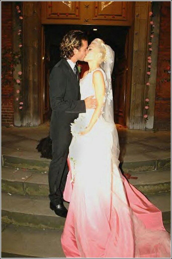 Gwen Stefani llevó un vestido de novia por encargo de John Galliano para Dior cuando se casó con Gavin Rossdale en 2002.