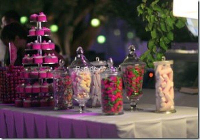 Mesa de cupcakes para tu boda