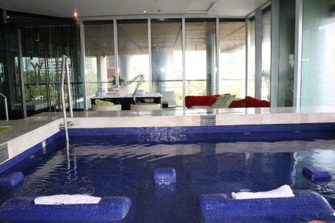 Jacuzzi de hidromasaje en el hotel W. Foto. Gaby Gómez