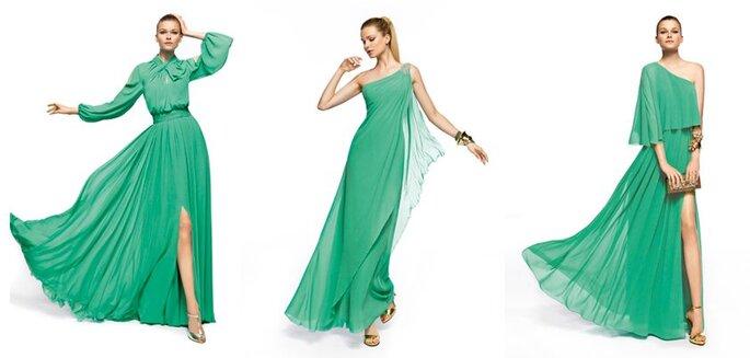 PANTONE 17-5641: La couleur de 2013. Robes vertes Pronovias. Photo: facebook officiel