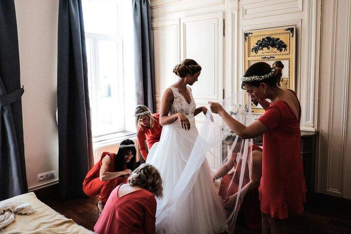 préparation robe mariée- mariage dans le Pas-de-Calais