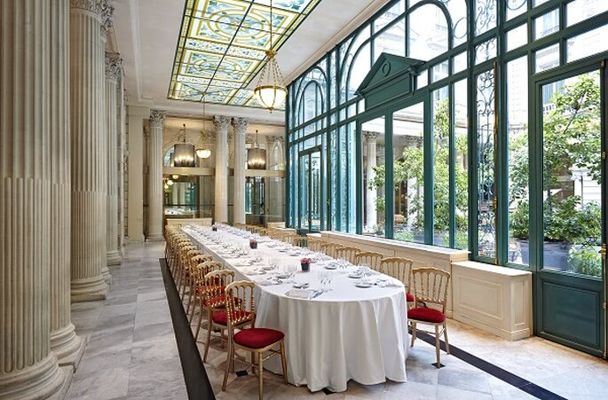 Banquet de mariage dans le Jardind'Hiver : quoi de plus mythique ? The Westin Paris – Vendôme